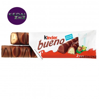 Chocolate Kinder Bueno Milk Chocolate Covered Wafer With Smooth Milky and Hazelnut Filling 43g Coklat